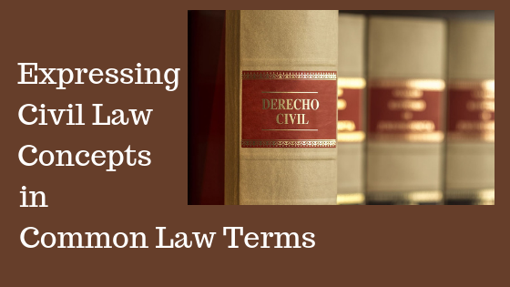 ExpressingCivil LawConcepts
