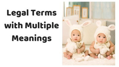 Legal Terms with Multiple Meanings