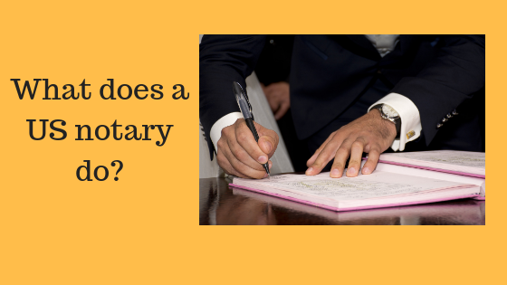 What does a US notary do_