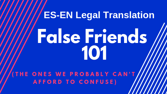 False Friends 101