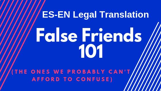 False Friends 101