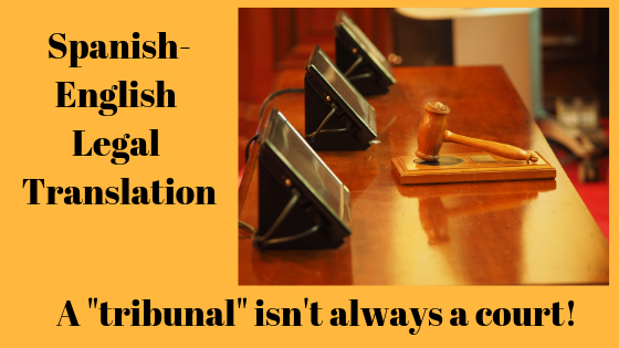 Tribunal not always court